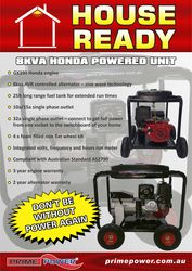 Honda Powered 8Kva Recoil Start Generator